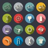 Комплект значка велосипеда иллюстрация штока