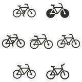 Комплект значка велосипеда Стоковые Изображения
