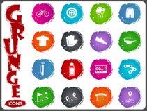 Комплект значка велосипеда Стоковое Фото