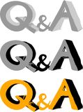 Комплект значка вопроса и ответа Стоковое Изображение