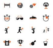 Комплект значка волейбола Стоковые Фотографии RF