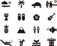 Комплект значка Гаваи Стоковое Изображение RF