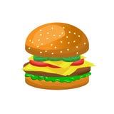 Комплект значка гамбургера Стоковое фото RF