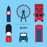 Комплект значка города Лондона Стоковое Фото