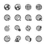Комплект значка глобальной связи, вектор eps10 Стоковая Фотография RF