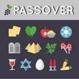 Комплект значка еврейской пасхи 10 eps Стоковые Изображения RF