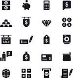 Комплект значка денег Стоковое Изображение RF