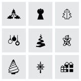 Комплект значка деревьев Cristmas вектора Стоковые Фото