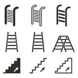 Комплект значка лестницы Стоковые Изображения