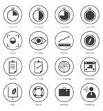 Комплект значка дела в плоском дизайне Стоковое Изображение