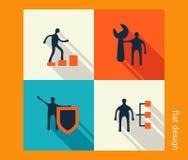 Комплект значка дела Развитие программного обеспечения и сети, маркетинг Стоковая Фотография