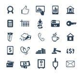Комплект значка дела Финансы, маркетинг, электронная коммерция Плоский дизайн иллюстрация штока