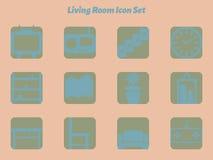 Комплект значка живущей комнаты Стоковая Фотография