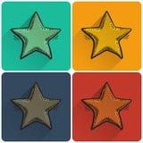 Комплект значка звезды искусства шипучки Стоковая Фотография