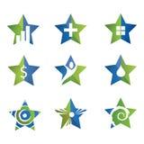 Комплект значка звезды Стоковое Изображение