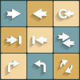 Комплект значка знака вектора стрелки Стоковые Фотографии RF