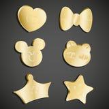 Комплект значка золота Стоковая Фотография RF