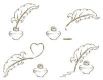 комплект значка золота Стоковое Фото