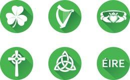Комплект значка Ирландии лоснистый Стоковая Фотография