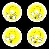 Комплект значка идеи Стоковые Изображения