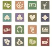 Комплект значка казино Стоковое Изображение