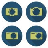 Комплект значка камеры Стоковая Фотография RF