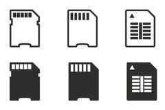 Комплект значка карты памяти Стоковая Фотография RF