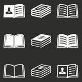 Комплект значка книги Стоковые Изображения RF