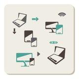 Комплект значка компьютера иллюстрация штока