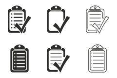 Комплект значка контрольного списока Стоковые Фотографии RF