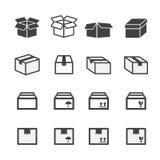 Комплект значка коробки Стоковое фото RF