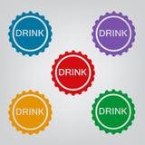 Комплект значка крышки бутылки Стоковая Фотография