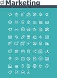 Комплект значка маркетинга Стоковая Фотография RF