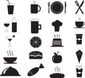 Комплект значка меню ресторана свежих продуктов Стоковая Фотография RF