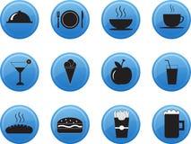 Комплект значка меню ресторана свежих продуктов Стоковые Изображения RF