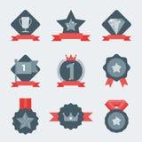 Комплект значка медали и победителя Стоковые Фотографии RF