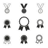 Комплект значка награды Стоковое фото RF