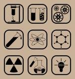 Комплект значка науки Стоковое Фото