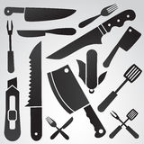 Комплект значка ножа Стоковые Фото