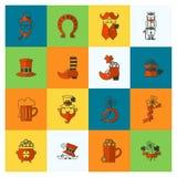 Комплект значка дня Patricks Святого Стоковое Изображение