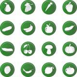 Комплект значка овощей, вектор Стоковое Изображение RF