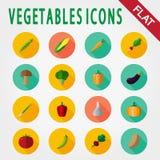 Комплект значка овощей иллюстрация вектора