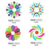 Комплект значка логотипа Стоковые Фото