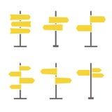 Комплект значка дорожных знаков плоский Стоковое Фото