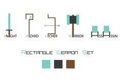 Комплект значка оружия Стоковая Фотография RF