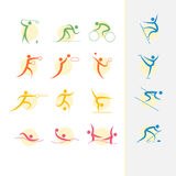 Комплект значка Олимпийских Игр лета Стоковое Фото
