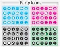 Комплект значка партии Стоковое Изображение