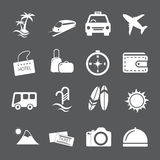 Комплект значка перемещения и каникул, вектор eps10 Стоковая Фотография