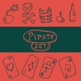 Комплект значка пирата Стоковое фото RF