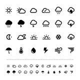 Комплект значка погоды сетчатки Стоковая Фотография RF